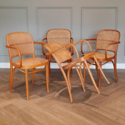 Set of 4 Prague or 811 Chairs by Josef Hoffmann, Romania 1960s