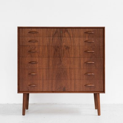 Midcentury Danish chest of 6 drawers by Johannes Sorth for Nexø, 1960s