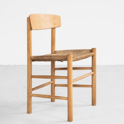 J39 chair in beech & paper cord by Børge Mogensen for FDB
