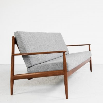 Midcentury Danish sofa in teak by Grete Jalk for France & Søn