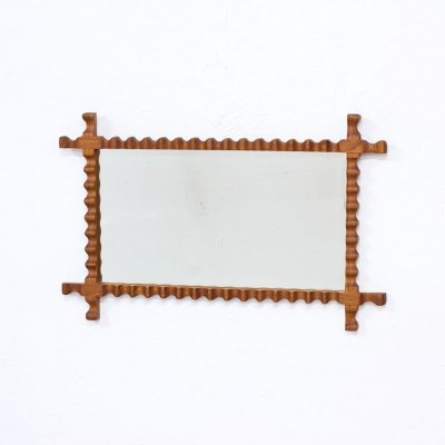 Swedish Modern Elm Mirror