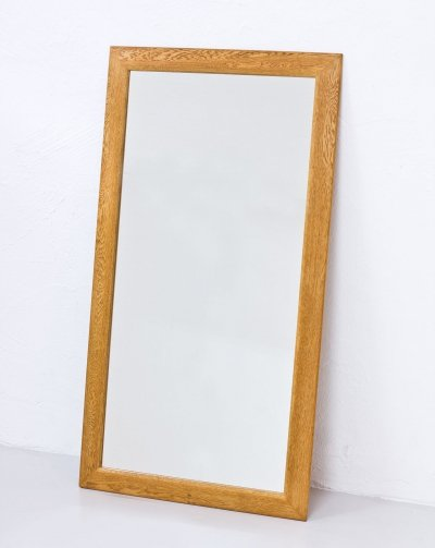 Swedish 1950s Oak Mirror by Fröseke