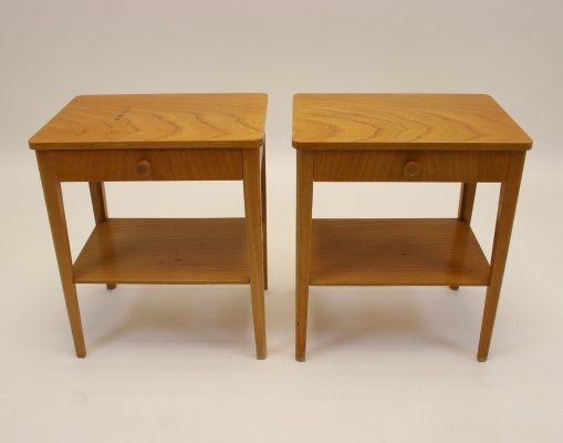 Set of Swedish bedside tables, 1960s