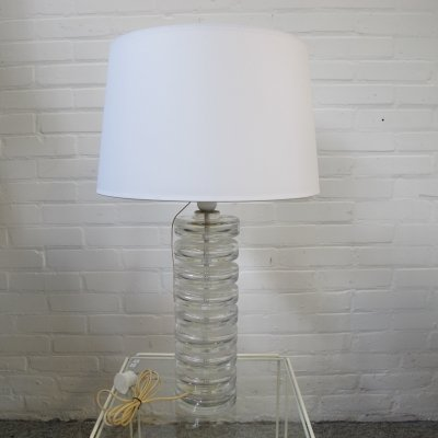 Glass table lamp from Kosta Boda, Sweden 1960s
