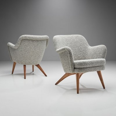 Pair of 'Pedro' Armchairs by Carl Gustaf Hiort af Ornäs, Finland 1950s