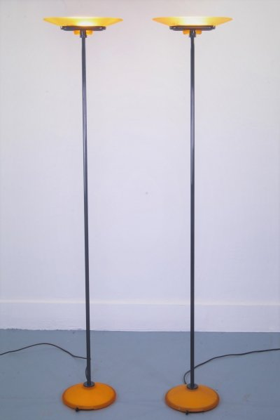 Pair of Arteluce 'Jill' Floorlamps by Perry King, 1980s