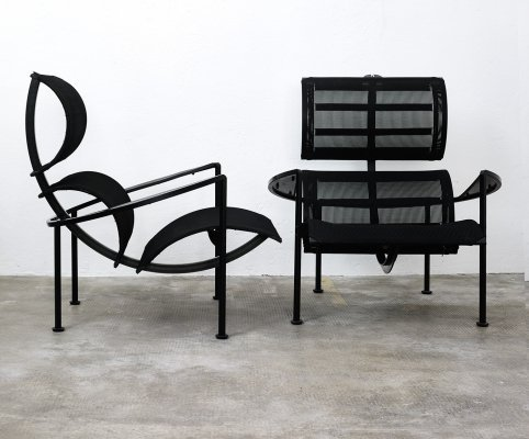 Pair of Signorina Chan armchairs by Carlo Forcolini for Alias, 1980s
