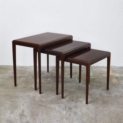 Rosewood nesting tables by Johannes Andersen