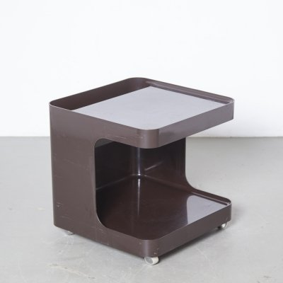 Chocolate brown GAME Side-table or Minibar by Marcello Siard for Collezoni Longato