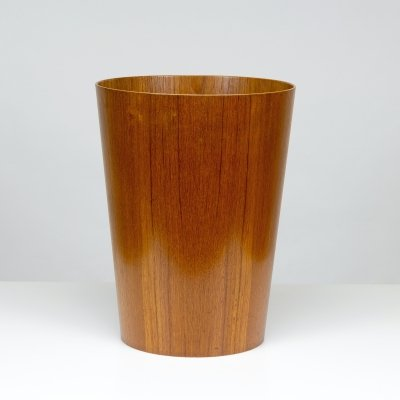 Teak Waste Paper Basket by Martin Åberg for Rainbow, Sweden 1950s