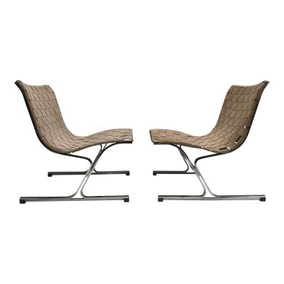 Pair of PLR1 Luar lounge chairs by Ross Littell for ICF De Padova, Italy 1960s