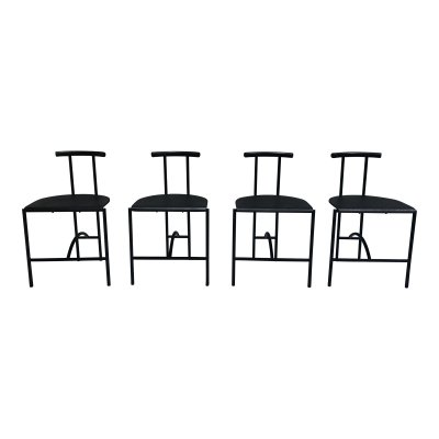 Set of 4 Tokyo dining chair by Rodney Kinsman OMK for Bieffeplast, Italy 1980s