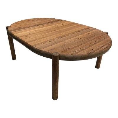 Extendable round dining table by Rainer Daumiller for Hirtshals Savvaerk, 1970s