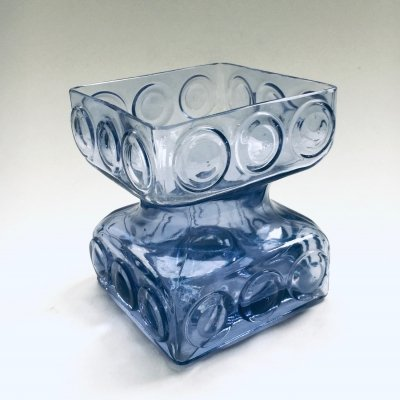 Glass 'Kehrä' vase by Tamara Aladin for Riihimäki Finland, 1970's