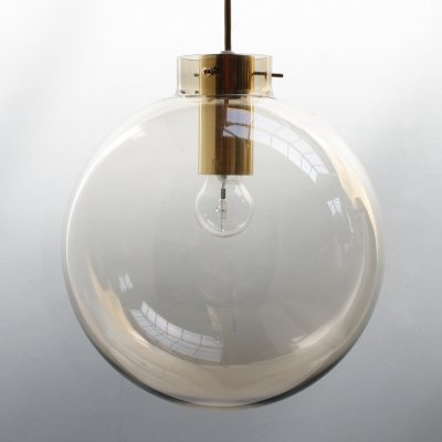 Scandinavian smoked glass sphere pendant by Jonas Hidle for Høvik Lys