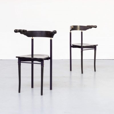 Pair of Borek Sipek 'Jansky' chairs for Driade, 1980s