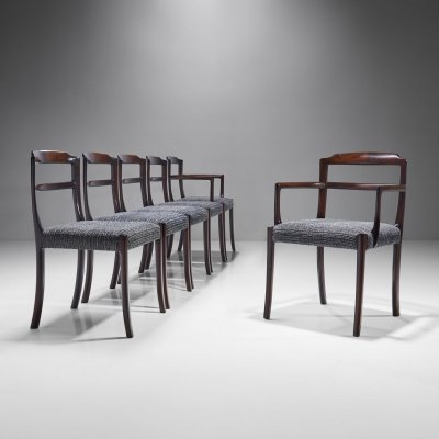 Set of Six Ole Wanscher Dining Chairs for A. J. Iversen, Denmark 1960s