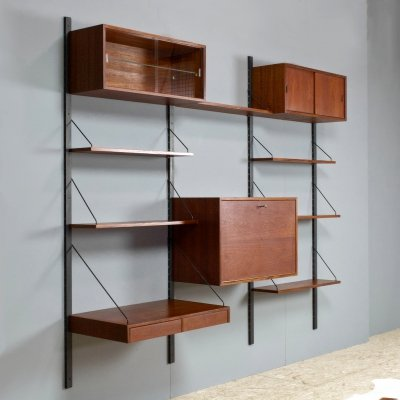 Vintage Royal shelving system in teak by Poul Cadovius, Denmark 1960s