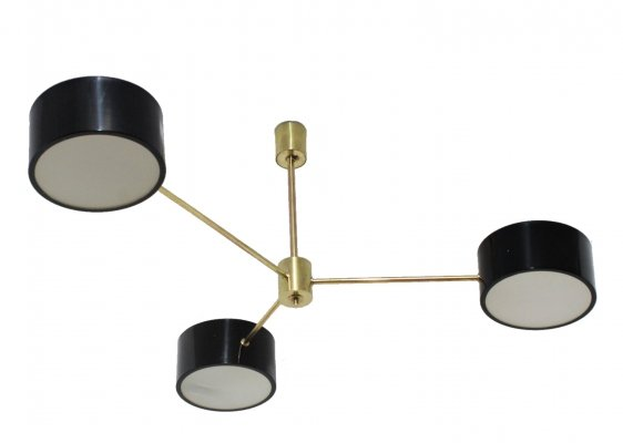 Tito Agnoli pendant lamp for O-Luce, 1950s