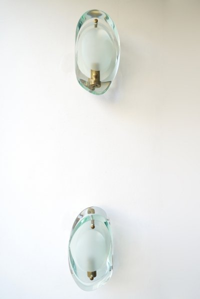 Set of Two Italian Sconces Model 2093 by Max Ingrand for Fontana Arte