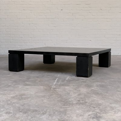 Square Brutalist coffee table by Arflex, Italy 1969
