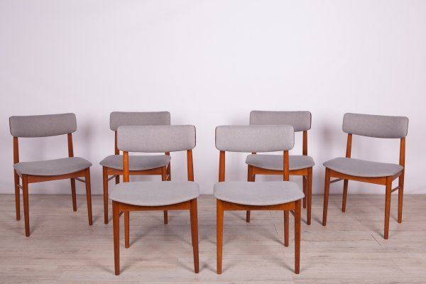 Set of 6 Mid-Century Teak Danish Dining Chairs, 1960s