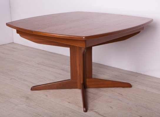 Mid Century Teak Extendable Dining Table, 1960s