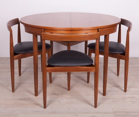 Teak Dining Table & Chairs set by H. Olsen for Frem Røjle, 1960s