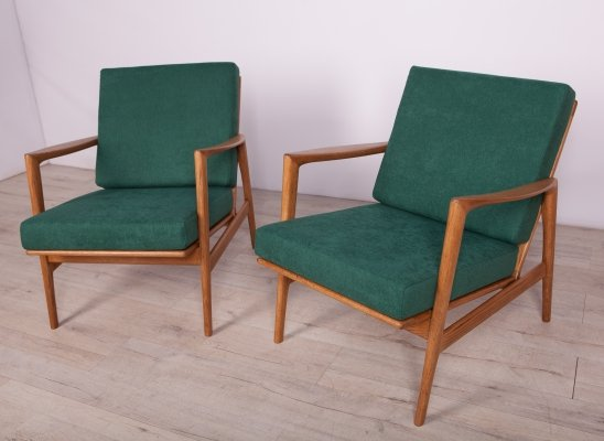 Pair of Model 300-139 Armchairs from Swarzędzka Furniture Factory, 1960s