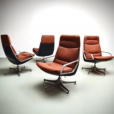 Very rare high Commander chairs by Jorge Zalszupin, 1960s