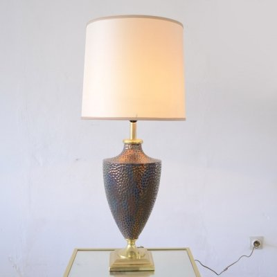 Hollywood regency style table lamp by Maison Le Dauphin, 1970s