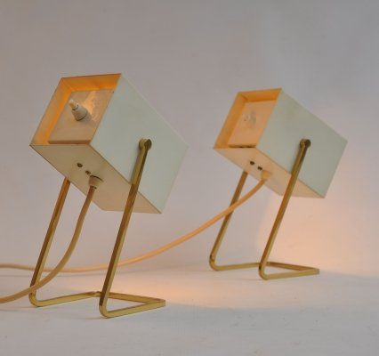 Pair of Kaiser Leuchten bedside table lamps