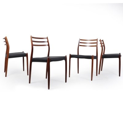 Set of 4 Model 78 Rosewood Dining Chairs by Niels Moller
