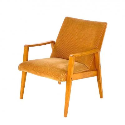 Vintage birch armchair, 1960s