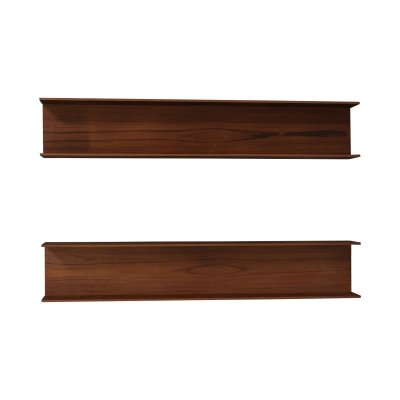 Pair of teak floating shelves by Walter Wirz for Wilhelm Renz, Germany 1964