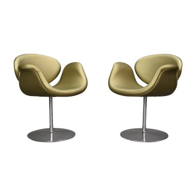 Pair of limited edition little tulip chairs by Pierre Paulin for Artifort, 1990s