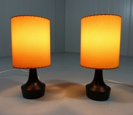 Pair of Biko Table Lamps / Bedside Lamps, 1950's