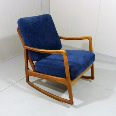 Ole Wanscher Rocking Chair Model 120 by France & Daverkosen
