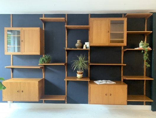 HG furniture oak wall unit by Rud Thygesen & Johny Sorensen