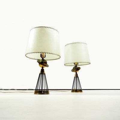 Pair of 1940's American table lights