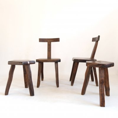 Two chairs & two stools by Olavi Hanninen, 1960s