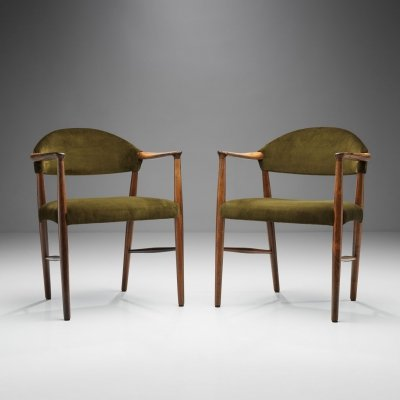 Pair of 'Model 223' Armchairs by Kurt Olsen for Slagelse Møbelværk, Denmark 1955
