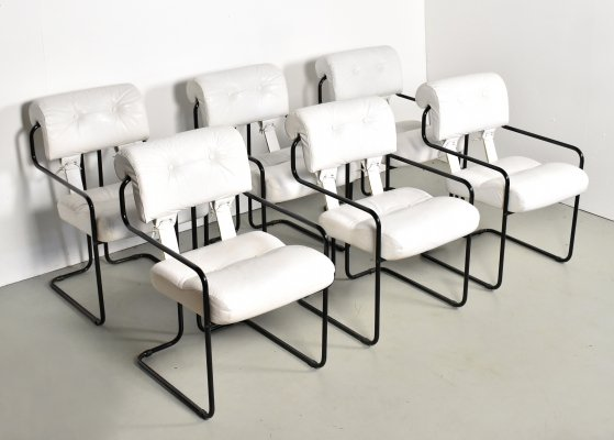 Set of 6 Tucroma dining chairs by Guido Faleschini for Mariani, 1970s
