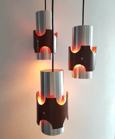 Retro Space Age Pendant with 3 lights, 1960s