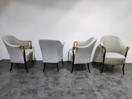 Set of 4 Model Progetti 63340 Lounge Chairs by Umberto Asnago for Giorgetti, 1980s