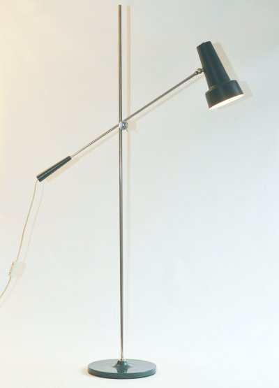 Green Model 329 floor lamp by Willem Hagoort for Hagoort Lighting, 1960s