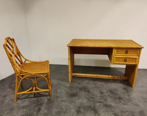 Vintage writing desk & chair by Dal Vera, 1960s
