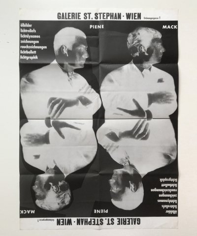 Zero exhibition poster by Otto Piene & Heinz Mack, 1961