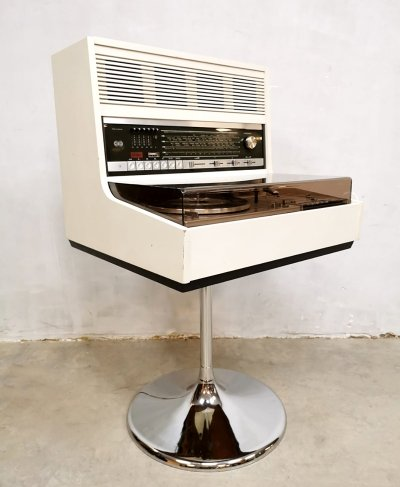 Vintage design Space Age Commander music player stereo set by Theo Schmitz for Rosita, 1970s