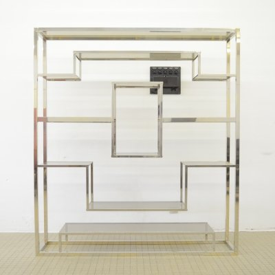 Hollywood regency chrome etagere by Belgo Chrom, 1980s